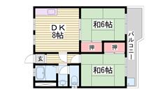 嬉しい駐車場1台込み☆天満駅徒歩圏内! 201の間取