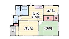 夢前川駅徒歩スグ!周辺に商業施設多数あり! 1の間取