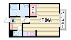 駐車場1台込みのお家賃です! 福田インター近いですよ♪ 103の間取