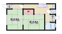 閑静な住宅街ですよ♪ 入居前に畳表替えしますよ♪ 202の間取
