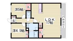 広々2LDKのマンションです★ 周辺に商業施設多数あり♪ 302の間取