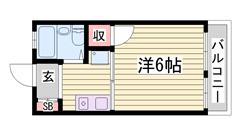 土山駅徒歩スグ!家賃お手頃な単身物件です♪ 201の間取