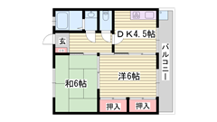 システムキッチン完備 駐車場完備 野里駅徒歩圏内です 4-3の間取