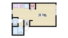 家具付きワンルーム!!姫路駅徒歩圏内♪ 514の間取