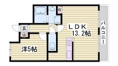 姫路駅近マンション☆新婚さんにもおすすめです♪姫路駅まで自転車で10分です! 406の間取