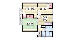 西飾磨駅徒歩スグ!エアコン1台ついてます! 202の間取