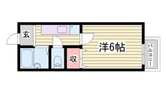 駐車場1台込み☆ はりま勝原駅徒歩圏内!! 内装キレイですよ♪♪ 105の間取