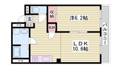 姫路駅徒歩圏のデザイナーズマンション☆ 充実の設備ですよ!! 305の間取