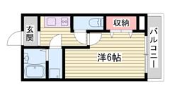 初めての一人暮らしに☆バス・トイレ別です!閑静な住宅街です! Fの間取