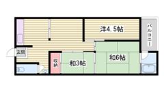 駅まで徒歩2分ですよ☆ ペット(犬・猫)可能です!! 404の間取