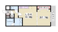 人気のオール電化仕様☆ 姫路駅まで徒歩5分!! 安心のセキュリティシステム♪♪ 203の間取