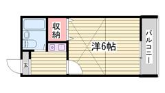 浜の宮駅・スーパー徒歩圏内!エアコン付き☆角部屋♪ 101の間取