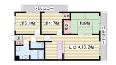 オートロック付マンション!京口駅・姫路駅共に徒歩圏内で生活便利な立地♪ 604の間取