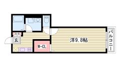姫路駅徒歩圏内 コンビニ目の前 設備充実してます 104の間取