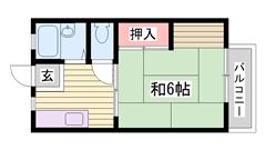 バス・トイレ セパレート♪駐車場1台込みのお家賃です!! 103の間取