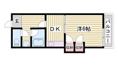 日割り家賃・翌月賃料・初回保証料・鍵交換費用 サービス!条件有り☆ 206の間取