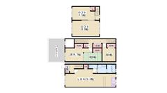 駐車場2台付き!! 3F建てメゾネット☆! 広々収納スペース!! 3の間取
