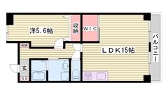 飾磨駅徒歩2分です☆ 近くにコンビニ有ります!! 内装美麗♪ 406の間取