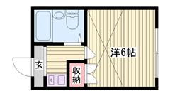 西飾磨駅徒歩1分!!エアコン1基付き♪周辺環境も良い物件☆! 202の間取