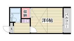 浜の宮駅・スーパー徒歩圏内!エアコン付き☆ 202の間取