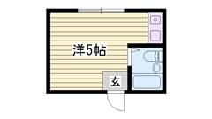 敷金・礼金0円物件☆ 家電・家具付き!! ネット使い放題ですよ♪♪ 302の間取