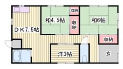 山電西飾磨駅徒歩3分☆高齢者・生活保護の方相談可♪ Nの間取