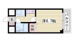 敷金0円!室内洗濯機置場アリ☆ 女性も安心のオートロック付マンションです♪  603の間取