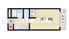 インターネット使い放題!!水道料金定額☆単身さんにオススメ(^O^) 305の間取