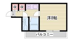 敷金・礼金0円キャンペーン!!単身者にオススメです♪ 206の間取