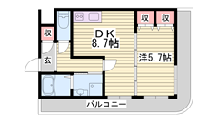 姫路駅近マンション☆新婚さんにもおすすめです♪姫路駅まで自転車まで10分です! 307の間取