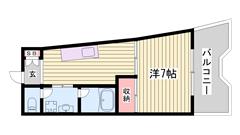 嬉しい都市ガス仕様☆ 姫路駅まで徒歩圏内!! 姫路城が見えますよ♪♪ 202の間取