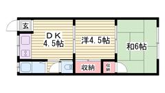 バス、トイレ別!! 事務所使用OK!! 初期費用もお得です♪ 1の間取
