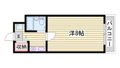 敷金0円☆ オートロック付きで女性も安心☆ JR姫路駅徒歩圏! 902の間取