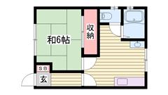 敷金・礼金0円物件 人気の2階角部屋です 一人暮らしにおすすめ物件 201の間取