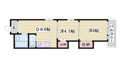 姫路駅徒歩圏内!室内リフォーム済みです☆!都市ガスです♪ 301の間取