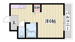 敷金・礼金0円物件☆ 学生さんにおすすめですよ!!  106の間取