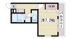 敷金0円☆ 駐車場1台込み☆ ペット飼育可能♪猫もOKです 102の間取