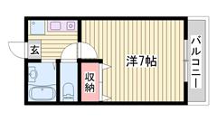 敷金0円☆ 駐車場1台込み☆ ペット飼育可能♪猫もOKです 203の間取