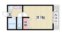 敷金0円☆ 駐車場1台込み☆ ペット飼育可能♪猫もOKです 201の間取