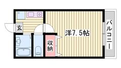 敷金0円☆ 駐車場1台込み☆ ペット飼育可能♪猫もOKです 103の間取