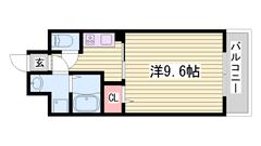 都市ガスでオートロック付きマンション♪姫路駅も徒歩圏内! 105の間取