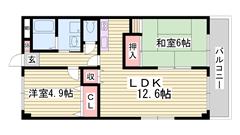 駐車場代一台込み 英賀保駅徒歩圏内 日当たり良好 収納スペース多数 102の間取