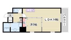 姫路駅徒歩スグ!設備文句なし♪オール電化ですよ! 202の間取