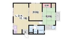 室内リフォーム済み☆嬉しいエアコン1基付き!敷金礼金0円です! 2-5の間取