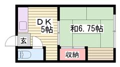 広々間取り!! 収納あります!! 京口駅まで徒歩8分♪ 6の間取