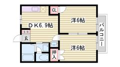 敷金0円 敷地内に駐車場完備 大手ハウスメーカー施工 201の間取
