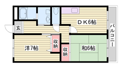 本竜野駅徒歩圏内で出勤に便利です☆ 303の間取