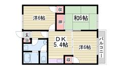 敷金・礼金0円物件です☆ 駐車場1台込み!! 近くにコンビニ有ります♪♪ 206の間取