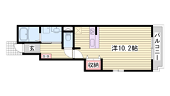 敷金0円物件☆ インター近くで便利です!! 近くにスーパー・コンビニ有り☆ 101の間取