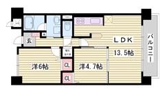 オール電化で充実の設備 新婚さん向け 姫路駅までアクセス便利 401の間取